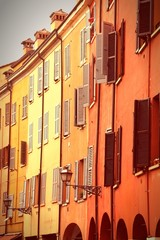 Modena, Italy. Cross processed color tone.