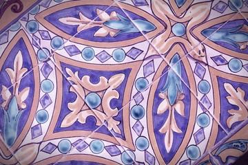 Seville ceramics. Cross processed color tone.