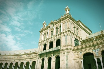 Sevilla, Spain. Cross processed color tone.