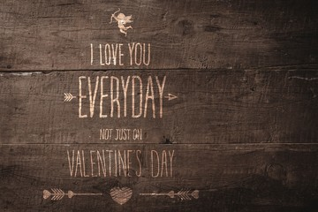 Composite image of valentines day greeting