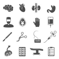 Surgery Icons Black