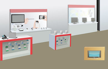 Modern Electrical Shop and Household Appliances