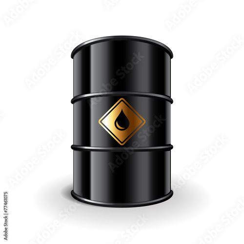 Oil barrel isolated on white vector - 77461075