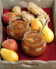 jam pear apples ginger