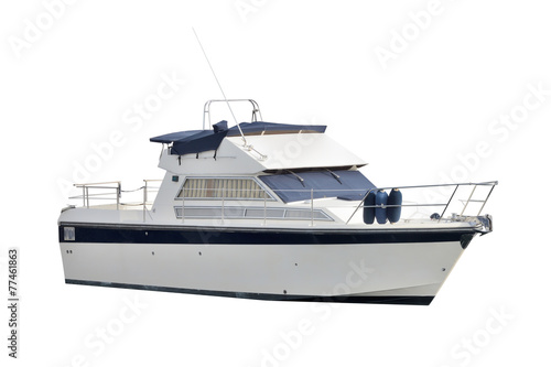 boat isolated on white background - 77461863