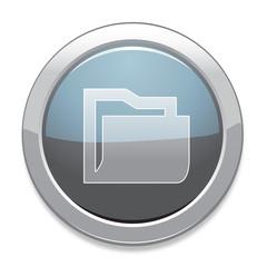 Folder Sign Icon / Light Gray Button