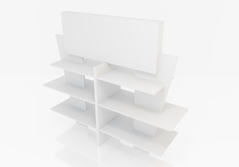 Blank Exhibition Trade Stand with shelf