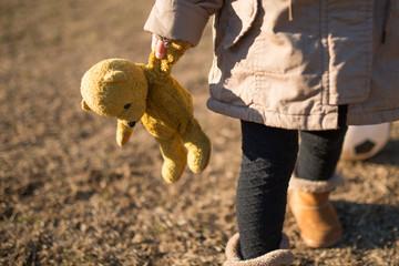 くたびれた熊の縫い包み