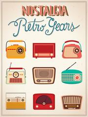 Retro radios poster