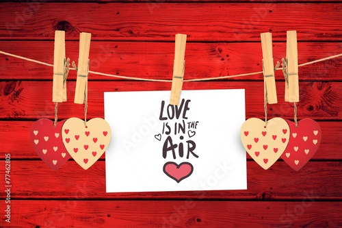 Composite image of love is in the air - 77462805