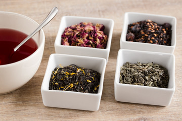 four different kind tea