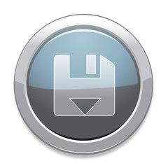 Download Sign Icon / Light Gray Button