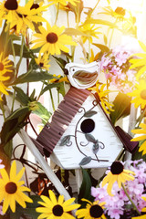 Birdhouse in Flowers