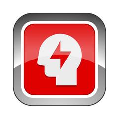 Chrome Square Button