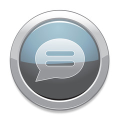 Chat Sign Icon / Light Gray Button