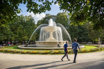 Ogród Saski park in Warsaw, Poland