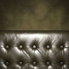 Luxury Furniture with copyspace. Genuine leather