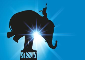 éléphant dressage cirque
