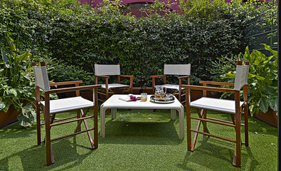 exterior furniture in the garden