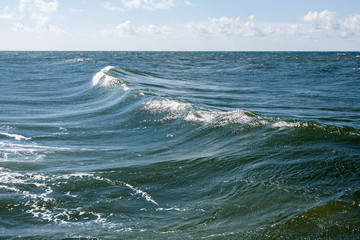 landscape on sea waves as a force of nature