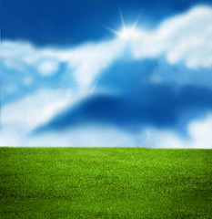 Sunny sky illustration