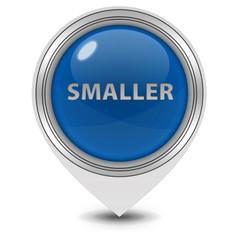 Smaller pointer icon on white background
