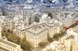 Paris - retro aerial view