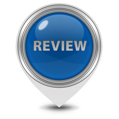 Review pointer icon on white background