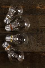 Glowing lightbulbs