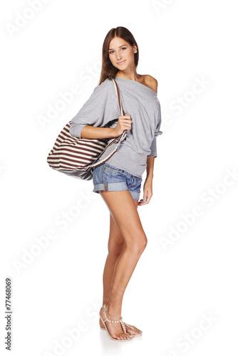 Fototapeta Beautiful slender girl