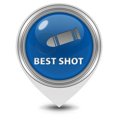 Best shot pointer icon on white background