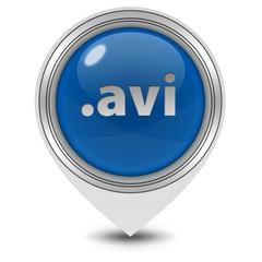 .avi pointer icon on white background
