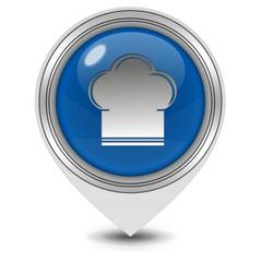 Chef pointer icon on white background