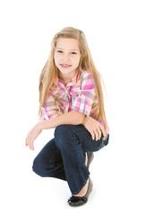Family: Cute Pre-teen Girl in Casual Wear