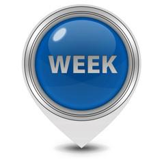 Week pointer icon on white background