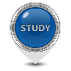 Study pointer icon on white background
