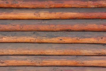 Деревянная стена из бревен