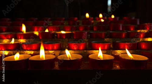 Foto op Plexiglas Bedehuis Church - Votive Candles