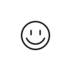 Smile Emoji Trendy Thin Line Icon