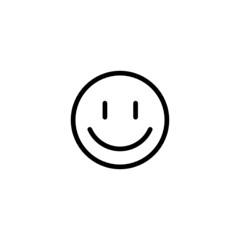 Smile Emoji Trendy Thin Line Icon