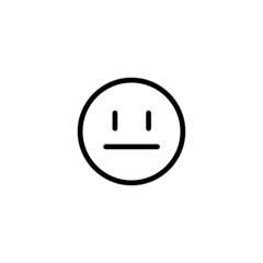 Expressionless Emoji Trendy Thin Line Icon