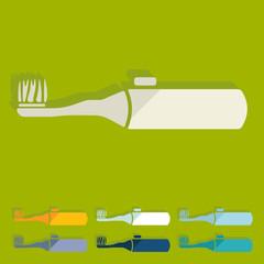 Flat design: electric toothbrush