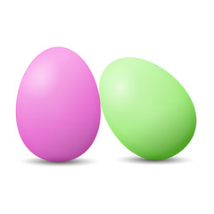 pink and green easter eggs