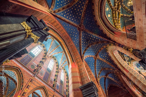 Zdjęcia na płótnie, fototapety na wymiar, obrazy na ścianę : St. Mary's Basilica, Kraków, Poland