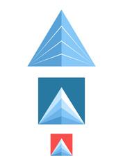 Mountain. Icon set