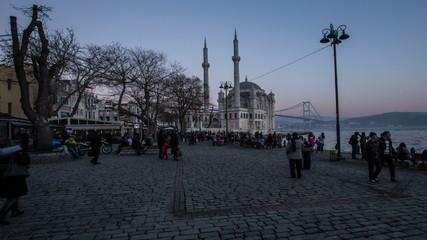 day&night time lapse photography, people walking Ortakoy