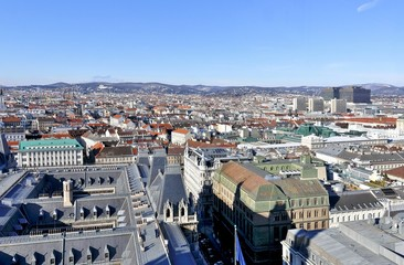 Wien von oben, Blick über Rathaus, Wien