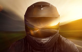 Motorbike Helmet - 77474294