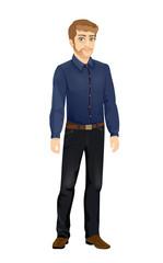 Stylish Man in Blue Shirt