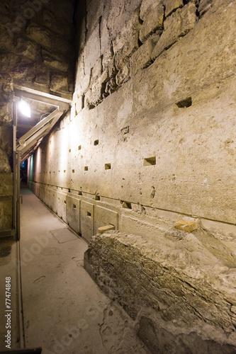 Leinwanddruck Bild Western wall tunnel